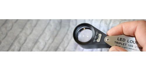 Lupas plegables con LED / UV