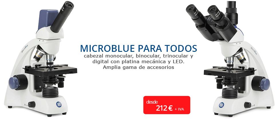 euromex microscopio microblue barato trinocular digital