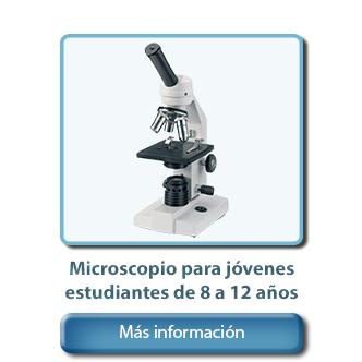 Microscopio para estudiantes de 8, 9, 10, 11, 12 años
