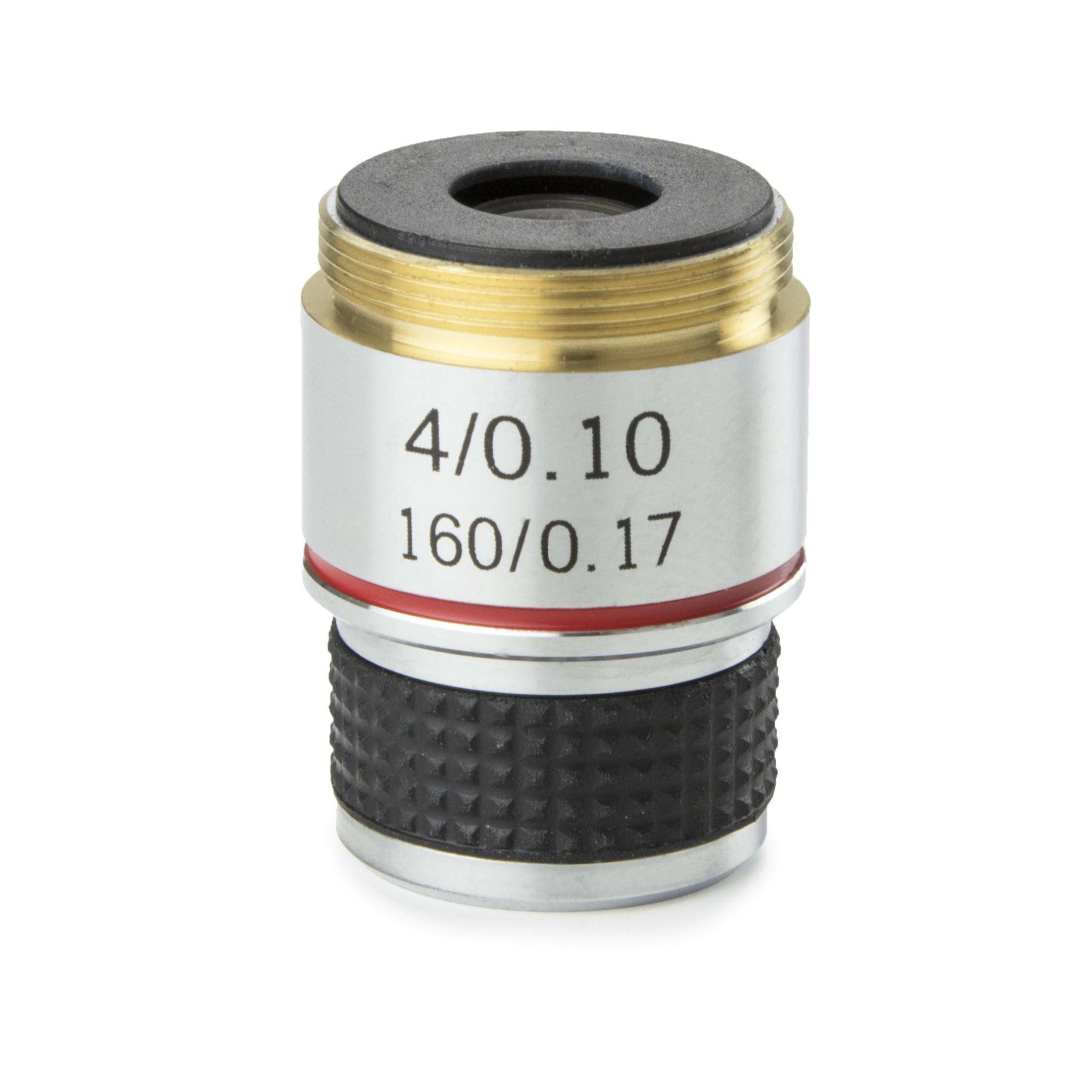 Objetivo DIN 35 mm. acromático 4x/0.10
