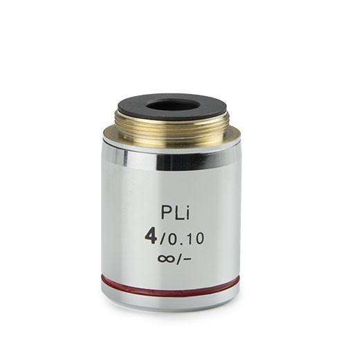 objetivo plano iOS microscopio 4x