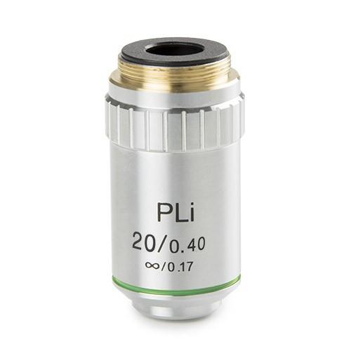 objetivo plano iOS 20x aumentos microscopio
