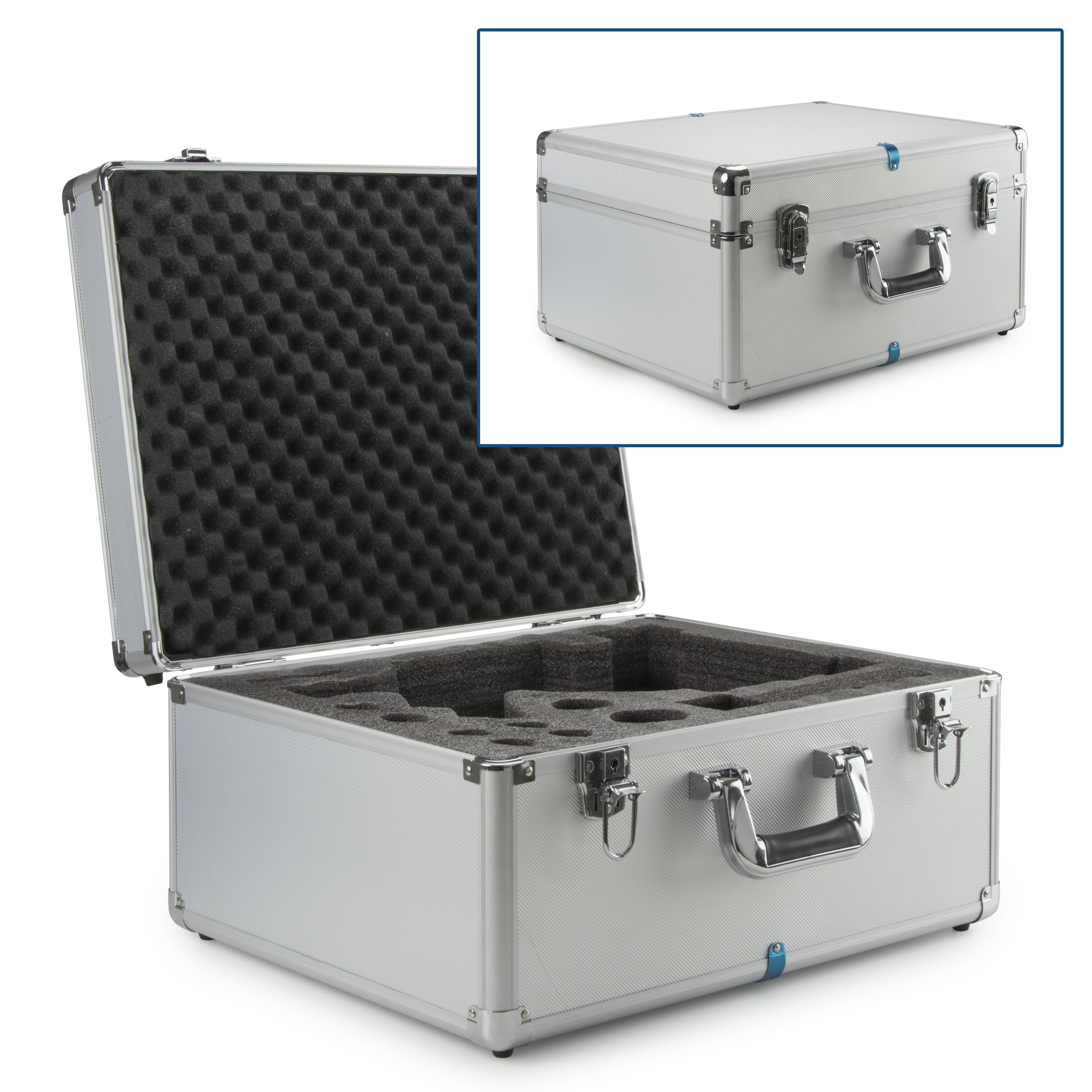maleta de aluminio de transporte para microscopio